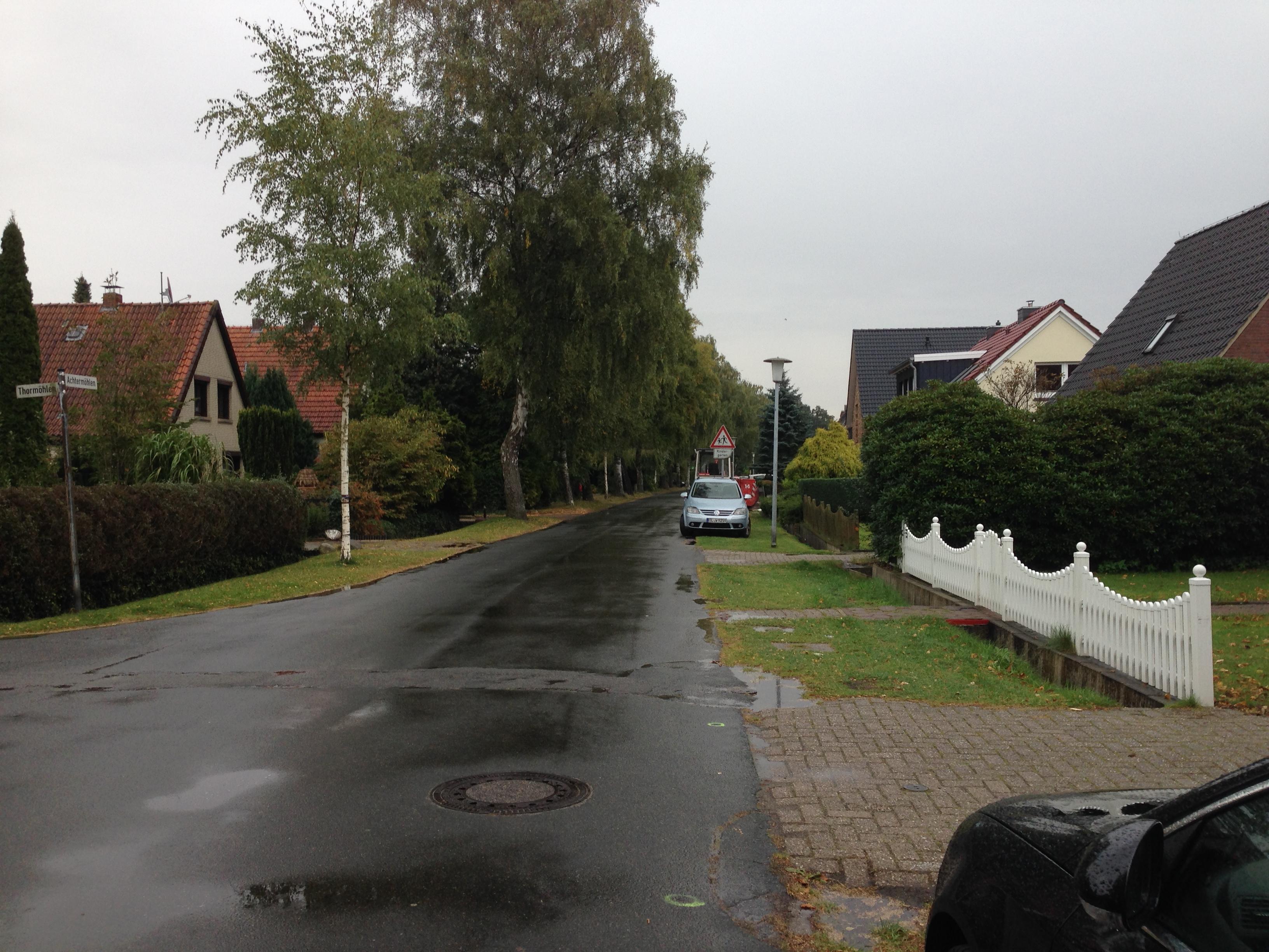Rückweg bei Regen