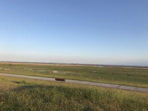 Blick von Baltrum aufs Festland