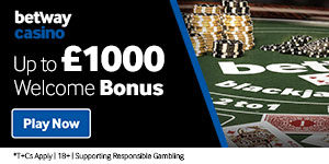 Betway Casino Online – 1000 EUROs WB