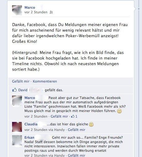 Facebook Werbeposts