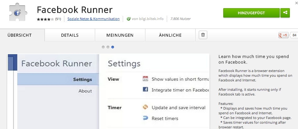 Facebook Runner on Chrome