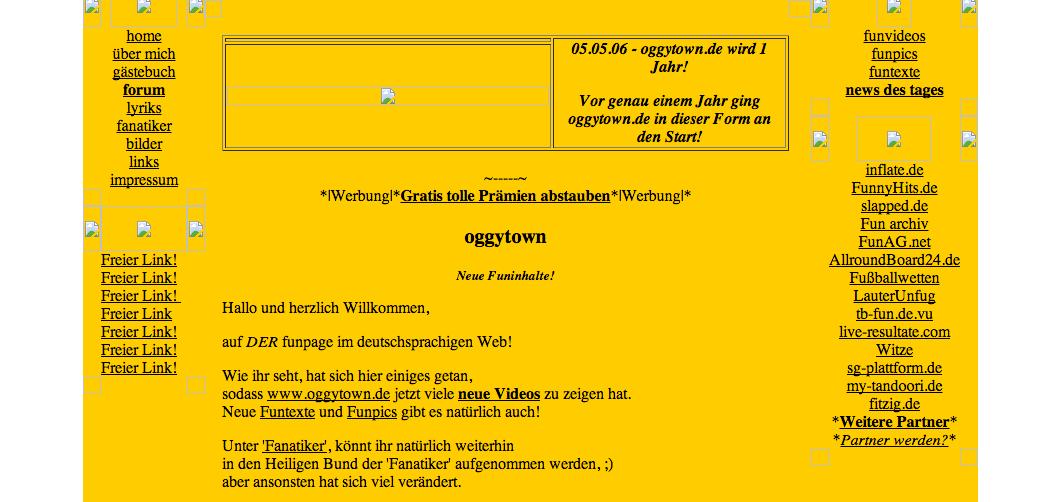 Meine erste Webseite - oggytown.de