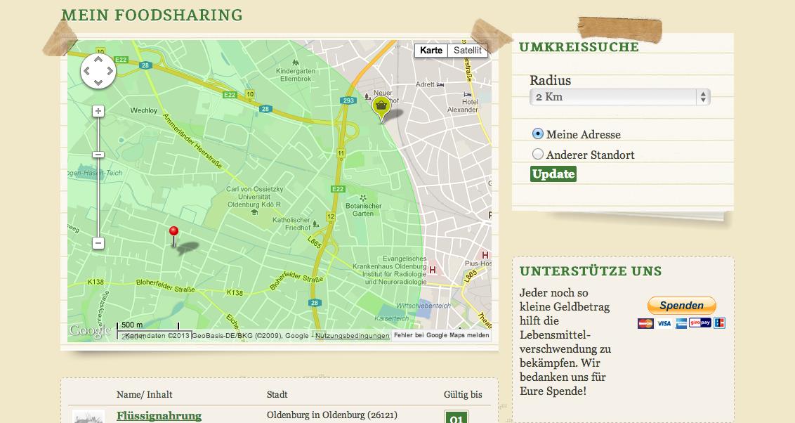 Foodsharing in Oldenburg