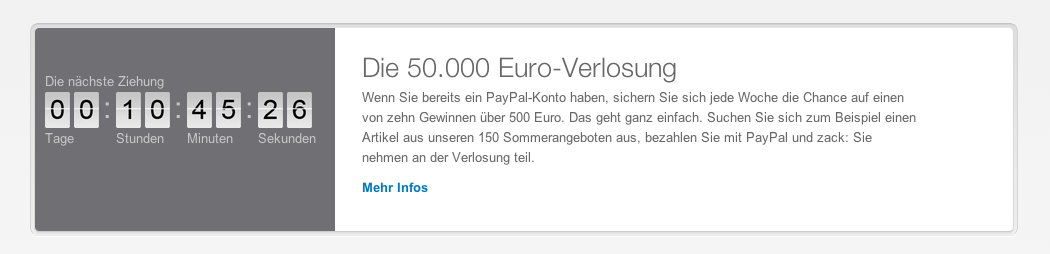 Paypal Verlosung