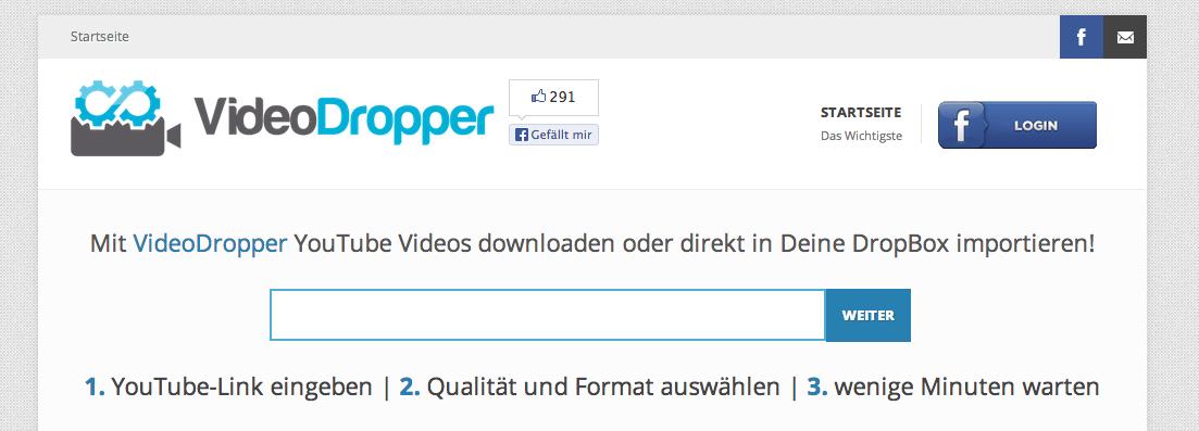 VideoDropper - YouTube zur Dropbox