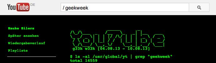 Easteregg Geek-Week YouTube