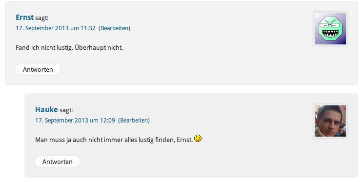 Kritik in Kommentaren - Webmasterfriday