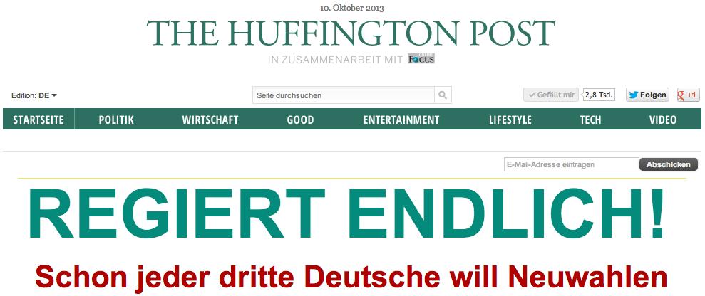 Huffington Post Deutschland ist online
