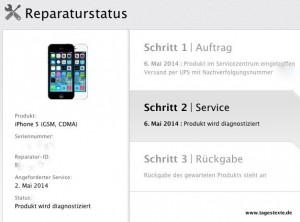 iPhone 5 Reparaturstatus